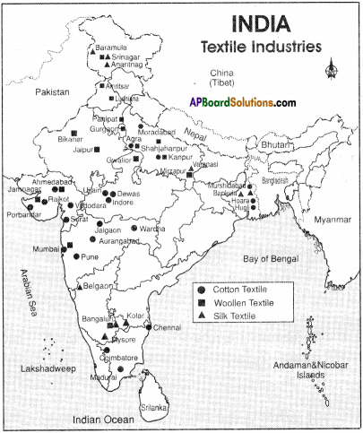 AP Board 9th Class Social Studies Important Questions Chapter 7 Industries in India 7