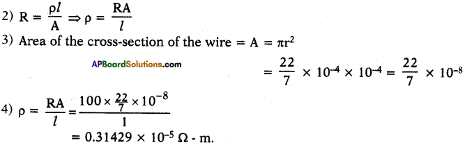 AP SSC 10th Class Physics Solutions Chapter 11 Electric Current 9