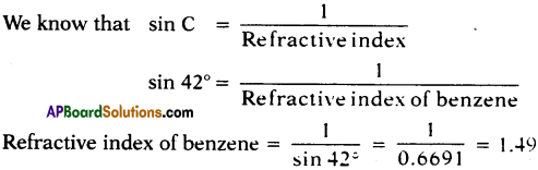 AP SSC 10th Class Physics Solutions Chapter 5 Refraction of Light at Plane Surfaces 3