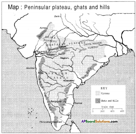 AP SSC 10th Class Social Studies Important Questions Chapter 1 India Relief Features 5