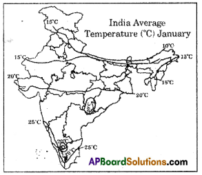 AP SSC 10th Class Social Studies Important Questions Chapter 4 Climate of India 1