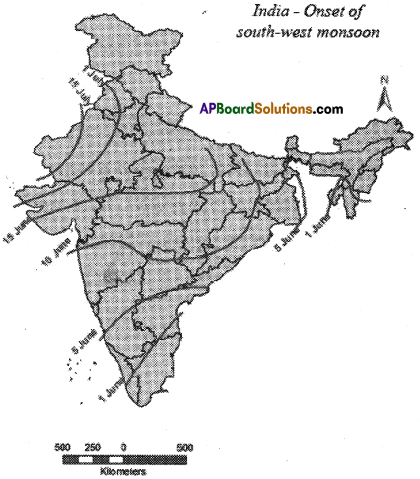 AP SSC 10th Class Social Studies Important Questions Chapter 4 Climate of India 12