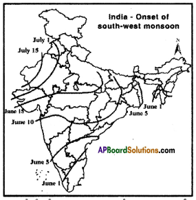 AP SSC 10th Class Social Studies Important Questions Chapter 4 Climate of India 4