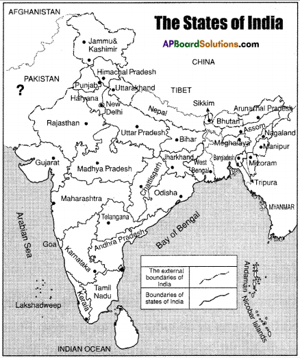 AP Board 8th Class Social Studies Important Questions Chapter 1 Reading and Analysis of Maps 6