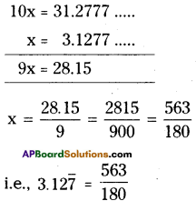 AP Board 9th Class Maths Solutions Chapter 1 Real Numbers Ex 1.1 13