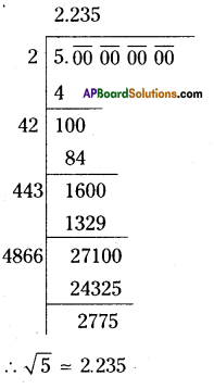 AP Board 9th Class Maths Solutions Chapter 1 Real Numbers Ex 1.2 1