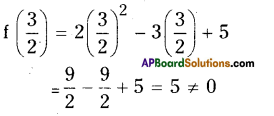 AP Board 9th Class Maths Solutions Chapter 2 Polynomials and Factorisation Ex 2.3 3