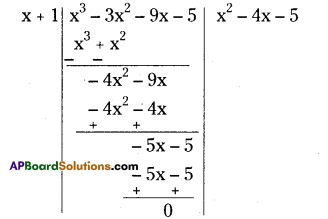 AP Board 9th Class Maths Solutions Chapter 2 Polynomials and Factorisation Ex 2.4 5