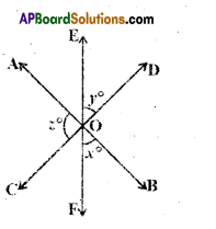AP Board 9th Class Maths Solutions Chapter 4 Lines and Angles Ex 4.2 1