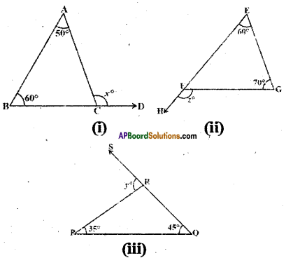 AP Board 9th Class Maths Solutions Chapter 4 Lines and Angles Ex 4.4 1