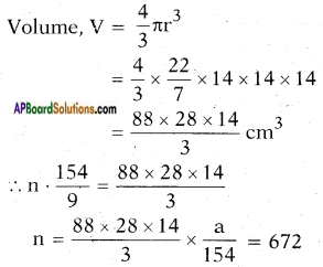 AP SSC 10th Class Maths Solutions Chapter 10 Mensuration Ex 10.4 12