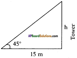 AP SSC 10th Class Maths Solutions Chapter 12 Applications of Trigonometry Ex 12.1 1
