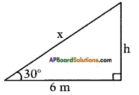 AP SSC 10th Class Maths Solutions Chapter 12 Applications of Trigonometry Ex 12.1 2