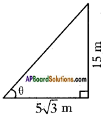 AP SSC 10th Class Maths Solutions Chapter 12 Applications of Trigonometry Ex 12.1 4