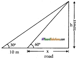 AP SSC 10th Class Maths Solutions Chapter 12 Applications of Trigonometry Ex 12.2 1