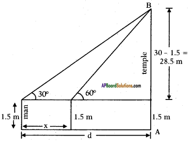 AP SSC 10th Class Maths Solutions Chapter 12 Applications of Trigonometry Ex 12.2 2