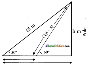 AP SSC 10th Class Maths Solutions Chapter 12 Applications of Trigonometry Ex 12.2 5