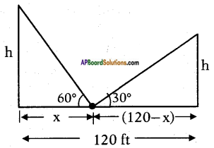 AP SSC 10th Class Maths Solutions Chapter 12 Applications of Trigonometry Ex 12.2 7