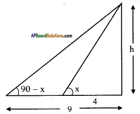AP SSC 10th Class Maths Solutions Chapter 12 Applications of Trigonometry Ex 12.2 8