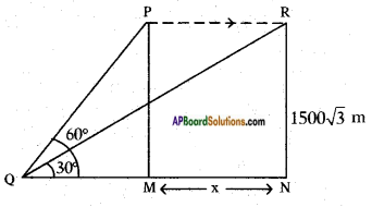 AP SSC 10th Class Maths Solutions Chapter 12 Applications of Trigonometry Ex 12.2 9