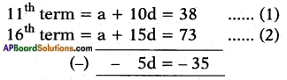 AP SSC 10th Class Maths Solutions Chapter 6 Progressions Ex 6.2 7
