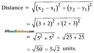 AP SSC 10th Class Maths Solutions Chapter 7 Coordinate Geometry Ex 7.1 1