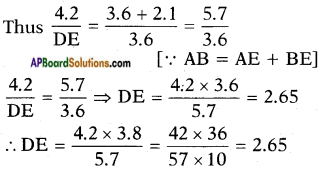 AP SSC 10th Class Maths Solutions Chapter 8 Similar Triangles Ex 8.2 2