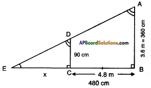 AP SSC 10th Class Maths Solutions Chapter 8 Similar Triangles Ex 8.2 4