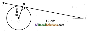 AP SSC 10th Class Maths Solutions Chapter 9 Tangents and Secants to a Circle Ex 9.1 1