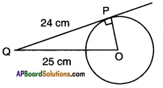 AP SSC 10th Class Maths Solutions Chapter 9 Tangents and Secants to a Circle Ex 9.2 1