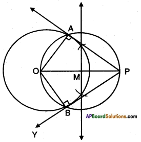 AP SSC 10th Class Maths Solutions Chapter 9 Tangents and Secants to a Circle Ex 9.2 10