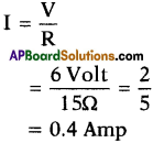 AP SSC 10th Class Physics Important Questions Chapter 11 Electric Current 11