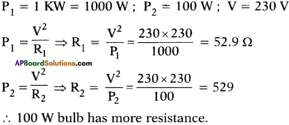 AP SSC 10th Class Physics Important Questions Chapter 11 Electric Current 43