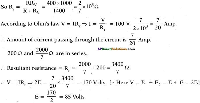 AP SSC 10th Class Physics Important Questions Chapter 11 Electric Current 82
