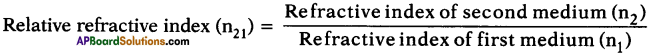 AP SSC 10th Class Physics Important Questions Chapter 5 Refraction of Light at Plane Surfaces 3