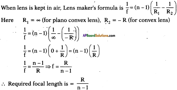 AP SSC 10th Class Physics Important Questions Chapter 6 Refraction of Light at Curved Surfaces 17
