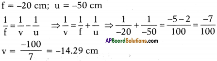 AP SSC 10th Class Physics Important Questions Chapter 6 Refraction of Light at Curved Surfaces 22