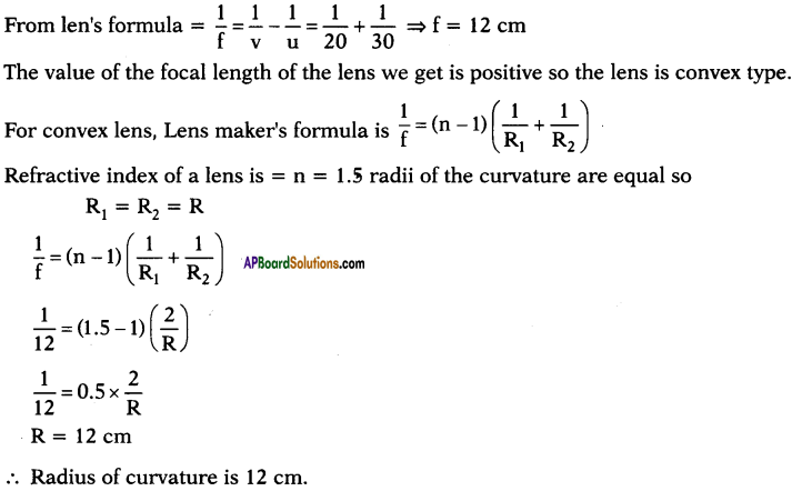 AP SSC 10th Class Physics Important Questions Chapter 6 Refraction of Light at Curved Surfaces 83