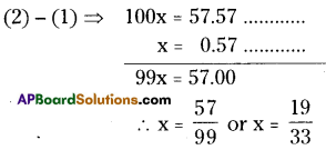 AP Board 8th Class Maths Solutions Chapter 1 Rational Numbers Ex 1.3 2