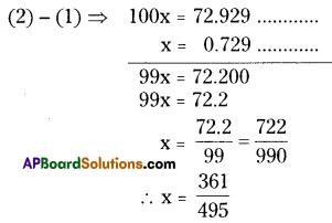 AP Board 8th Class Maths Solutions Chapter 1 Rational Numbers Ex 1.3 4