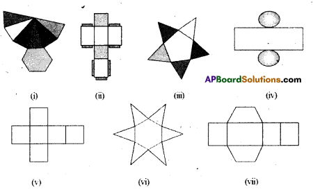 AP Board 8th Class Maths Solutions Chapter 13 Visualizing 3-D in 2-D Ex 13.2 6