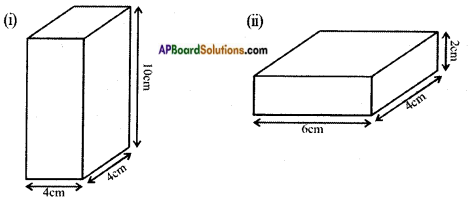 AP Board 8th Class Maths Solutions Chapter 14 Surface Areas and Volume (Cube-Cuboid) InText Questions 1