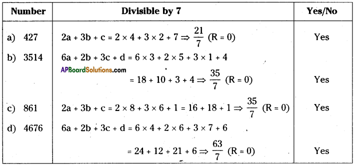 AP Board 8th Class Maths Solutions Chapter 15 Playing with Numbers Ex 15.3 2