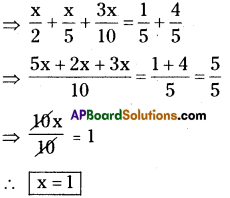 AP Board 8th Class Maths Solutions Chapter 2 Linear Equations in One Variable Ex 2.5 6