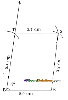 AP Board 8th Class Maths Solutions Chapter 3 Construction of Quadrilaterals Ex 3.1 2