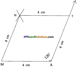 AP Board 8th Class Maths Solutions Chapter 3 Construction of Quadrilaterals Ex 3.1 6