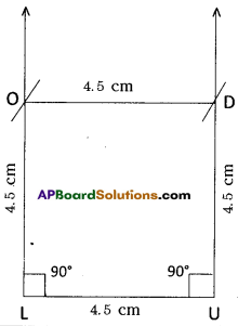 AP Board 8th Class Maths Solutions Chapter 3 Construction of Quadrilaterals Ex 3.1 9