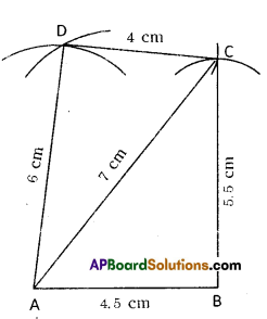 AP Board 8th Class Maths Solutions Chapter 3 Construction of Quadrilaterals Ex 3.2 1