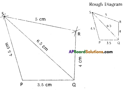 AP Board 8th Class Maths Solutions Chapter 3 Construction of Quadrilaterals Ex 3.2 2