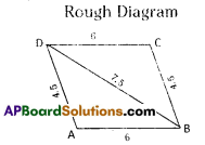 AP Board 8th Class Maths Solutions Chapter 3 Construction of Quadrilaterals Ex 3.2 3